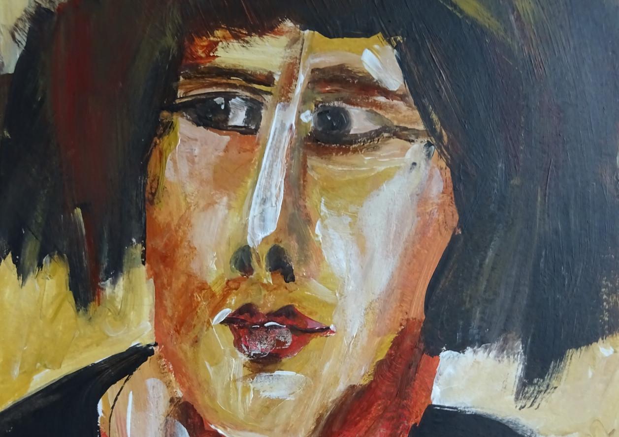 Portret, 30x25 olieverf