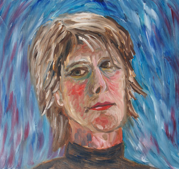 Zelfportret expressionisme, 35x30 olieverf