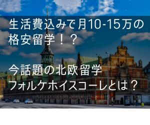 【格安で北欧留学!?】生活費込みで月10-15万!今話題の北欧留学フォルケホイスコーレとは?