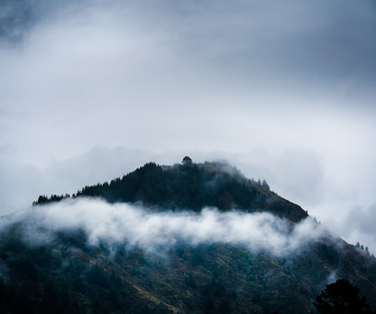 Shrouded by clouds