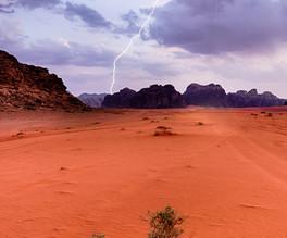 Wadi Rum lightening