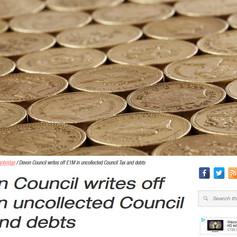 TDC Writes off £1 Million