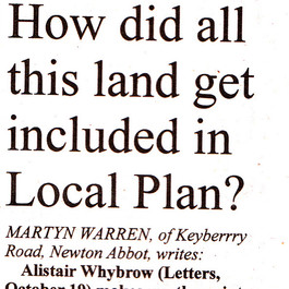 Why So Much Land in Local Plan?