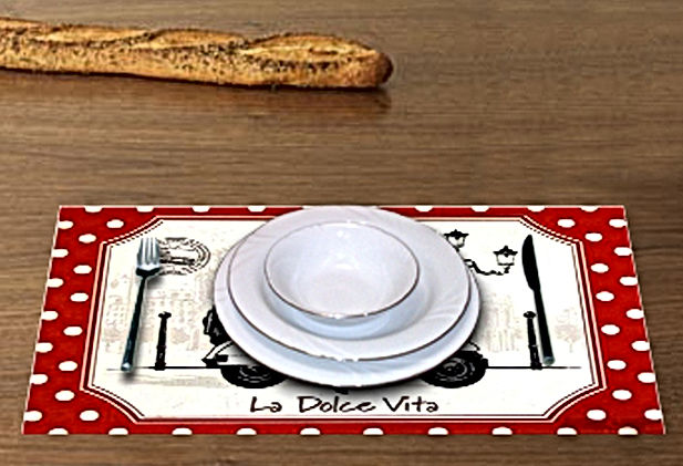 Paper printed placemats