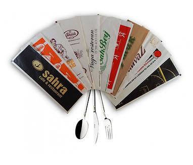 Branded paper cutlery cases
