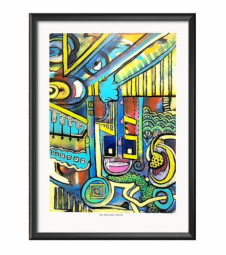 """The knowledge engine"" - Limited edition Giclee print"