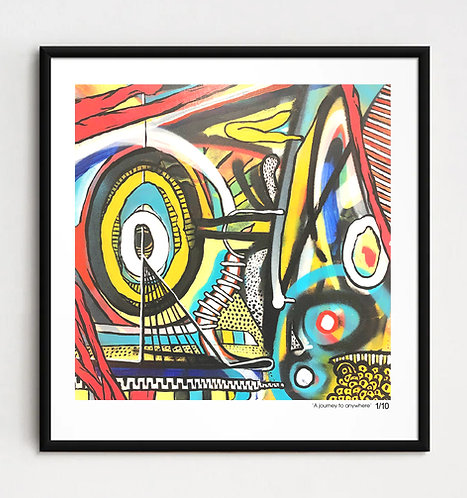 """""""A journey to anywhere"""" - Limited edition Giclee print"""