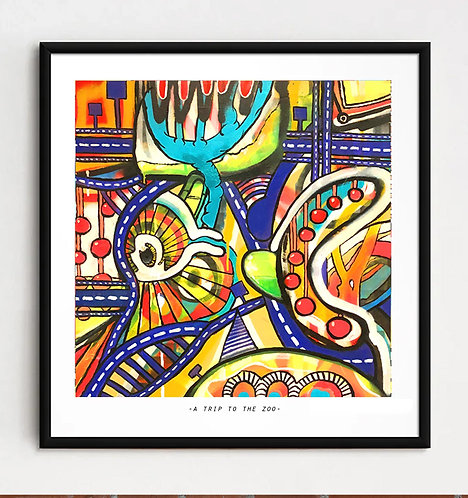 """A trip to the zoo"" - Limited edition Giclee print"