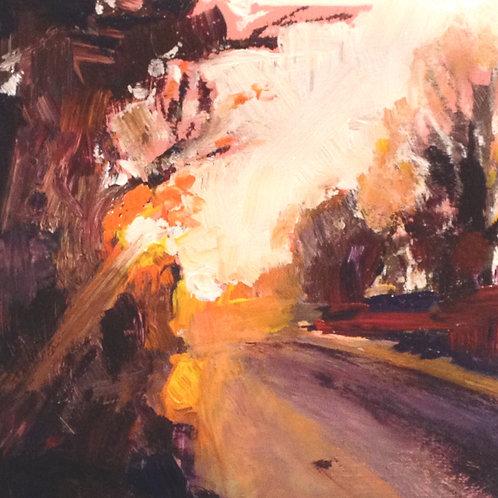 Sunburst (40cm x 40cm) -- Medium: Oil on board
