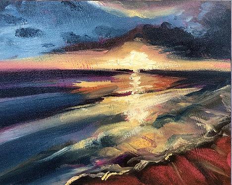 Evening light 2 (20cm x 25cm) -- Medium: Oil on board