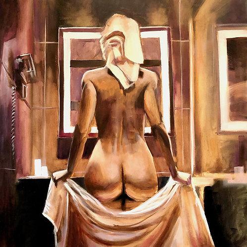 """""""Cheeky"""" (50cm x 50cm) -- Medium: Oil on Canvas"""