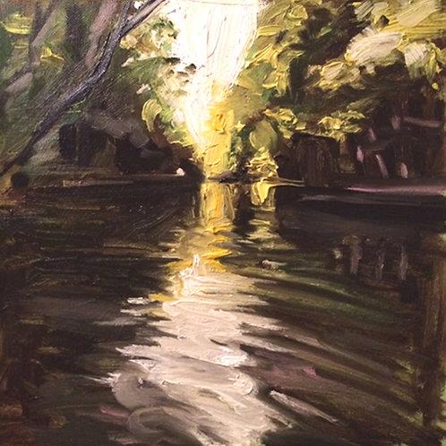 Bure River (30cm x 30cm) -- Medium: Oil on canvas
