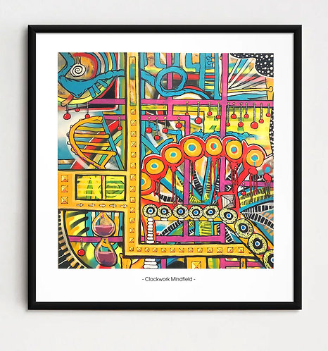 """""""Clockwork Mindfield"""" - Limited edition Giclee print"""