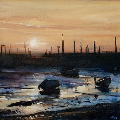 Morston at low tide (50cm x 50cm) -- Medium: Oil on Canvas