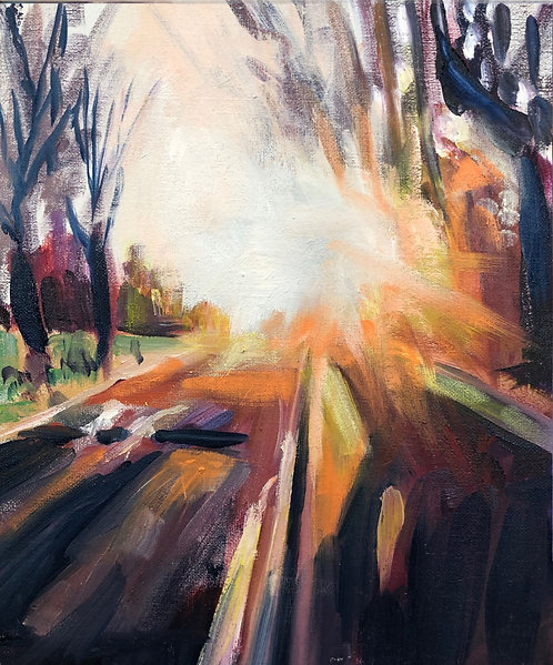 Sunburst 2 (20cm x 30cm) -- Medium: Oil on board