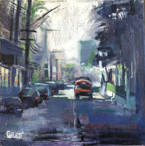 Siem reap back alley (40cm x 40cm) -- Medium: Oil on canvas