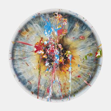 'Untitled (Chromosphere Avant Arte Splat 2 Blue)' 2019