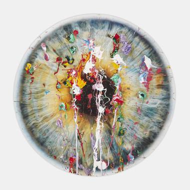 'Untitled ( Chromosphere Avant Arte Splat 1white )' 2019