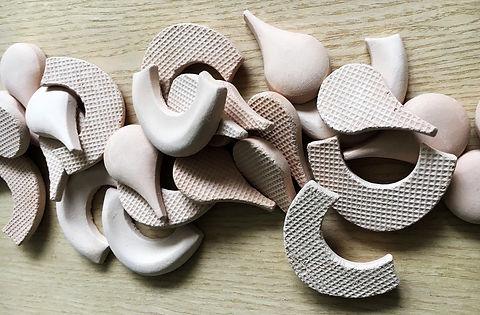 Мозаика ручной работы из глины