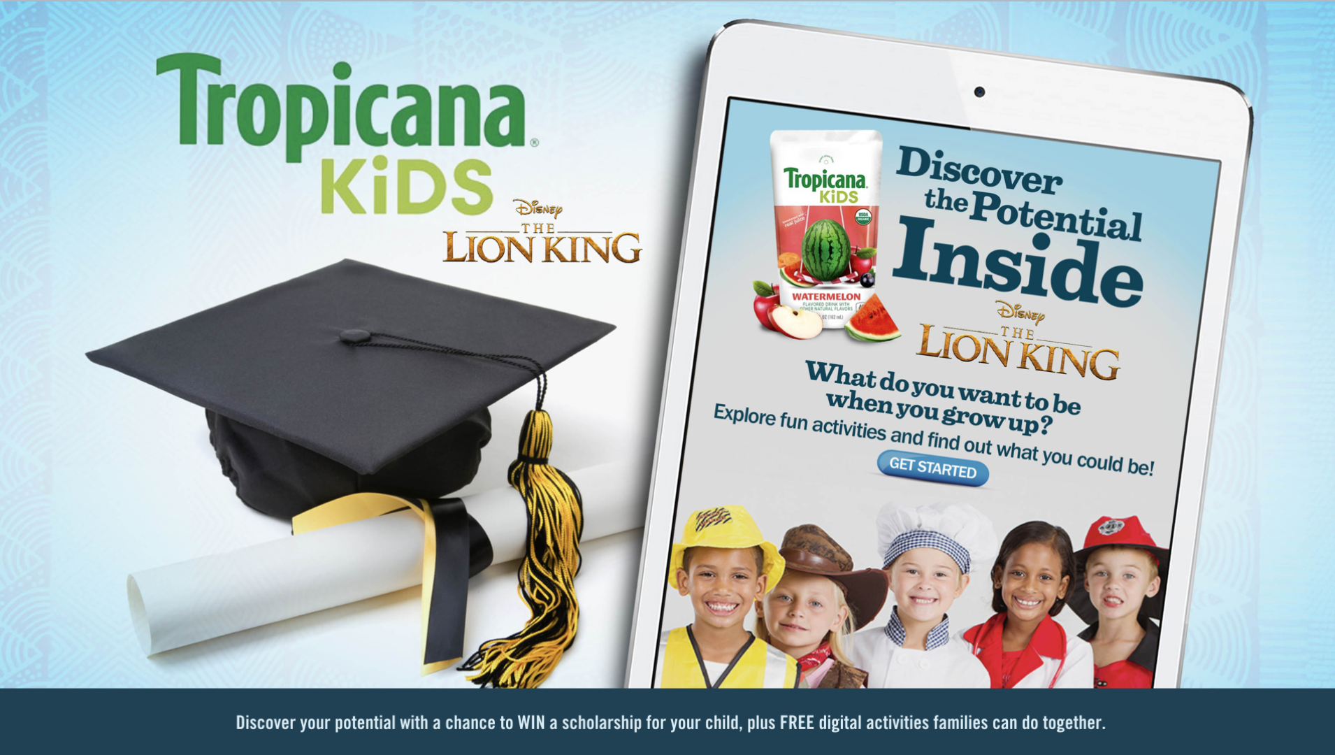 TROPICANA KIDS TIE-IN WITH LION KING