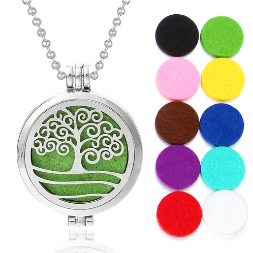 Aromatherapy Diffuser Locket Necklace With Pads For Perfume Or Essential Oil