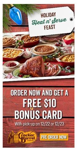 Cracker Barrel Digital Ad