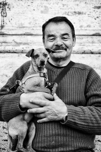 Un homme et son chien (Rome, 2016
