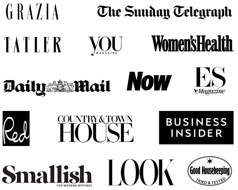 You Need A Collective Magazine and TV appearances, Daily Mail, Women's Health, Business Insider, Grazia, Tatler, Th Sunday Telegraph