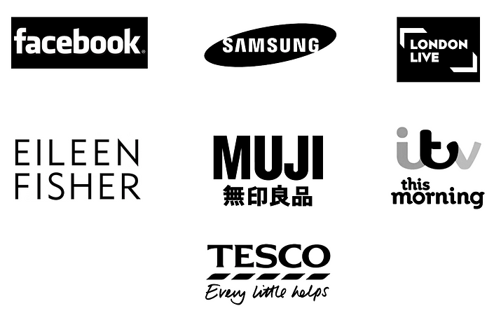 corporate brands You Need A Collective have worked with e.g. Muji, Facebook, Eileen fisher, Tesco, Samsung