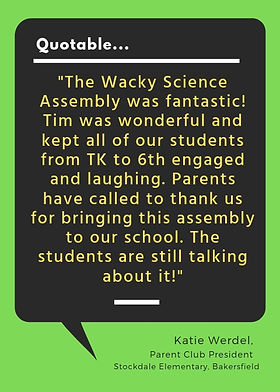 Wacky Science Testimonial - Katie Werdel