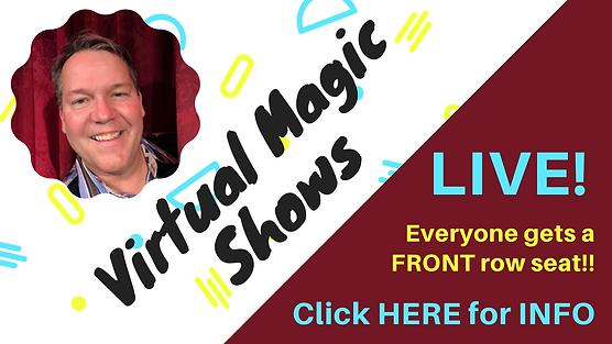 Click HERE Button - Virtual Magic Shows