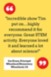 Wacky Science Testimonial Jim Evans Whea