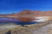 Laguna colorada en RN Eduardo Avaroa