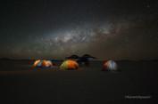 Camping y via Lactea en el Salar de Uyuni