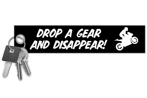 Drop a Gear and Disappear! Key Tag