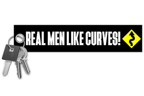 Real Men Like Curves! Key Tag