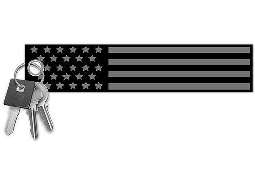 USA Flag Blackout Key Tag