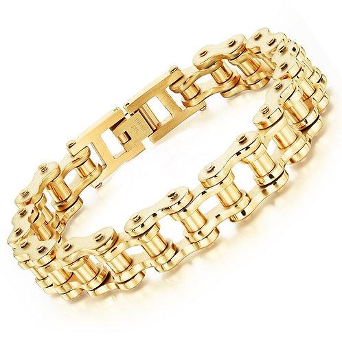 Golden  Motorcycle Chain Bracelet