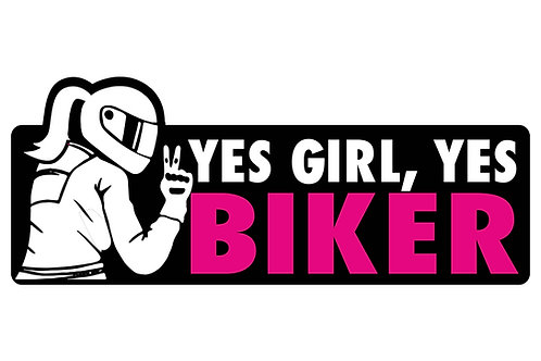 Yes Girl, Yes Biker Sticker
