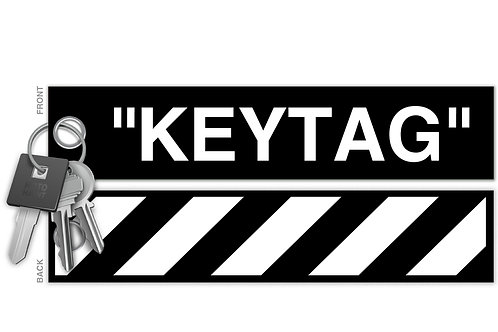 """Off Whitag"" Key Tag"