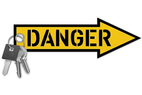 Danger Key Tag
