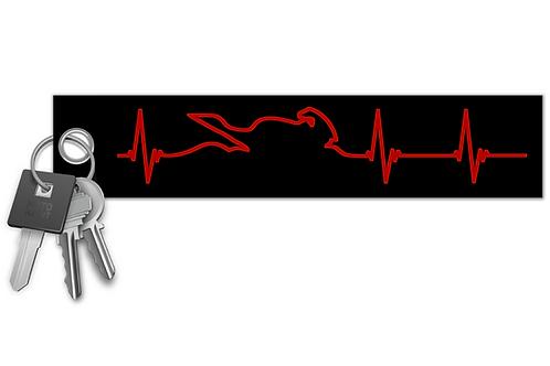 Biker Heartbeat Key Tag