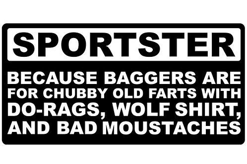 Sportster Becuase... Sticker
