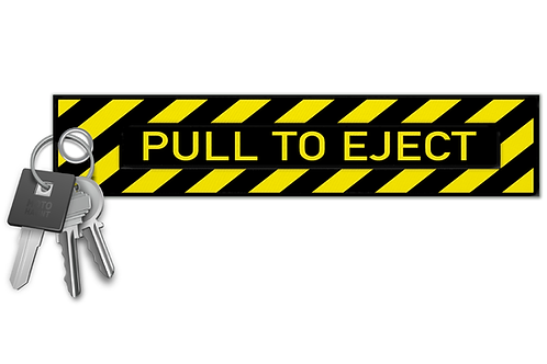 Pull To Eject Key Tag