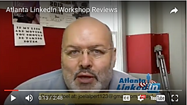 Video testimonial about Atlanta LinkedIn Personal Branding workshop, tells how much this experienced internet marketer gained in just 30 minutes of our LinkedIn Seminar in Atlanta