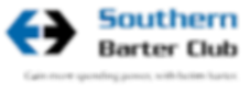 Logo icon and tagline for barter company.