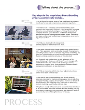 Brand development process outline is an overvie of our unique brand devlopemn process, based on the work of MarketPower and Robert Fritz, Inc.