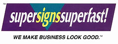 MarketPower worked with super signs super fast -- sign making company name logo tagline branding