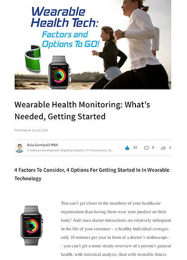Blog content devloped by MarketPower, this on how wearable technology is impacting the delivery of healthcare in the US.