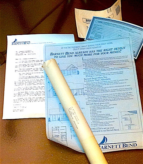 This three-dimensional mailing (3-D mailing tube format) promoted a new subdivision, using this tageted direc marketing tool to promote leads an sales even before the subdivision completed construction.